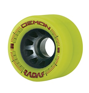 Radar Demon Derby Quad 62mm Wheels 95A (4pk) - Yellow